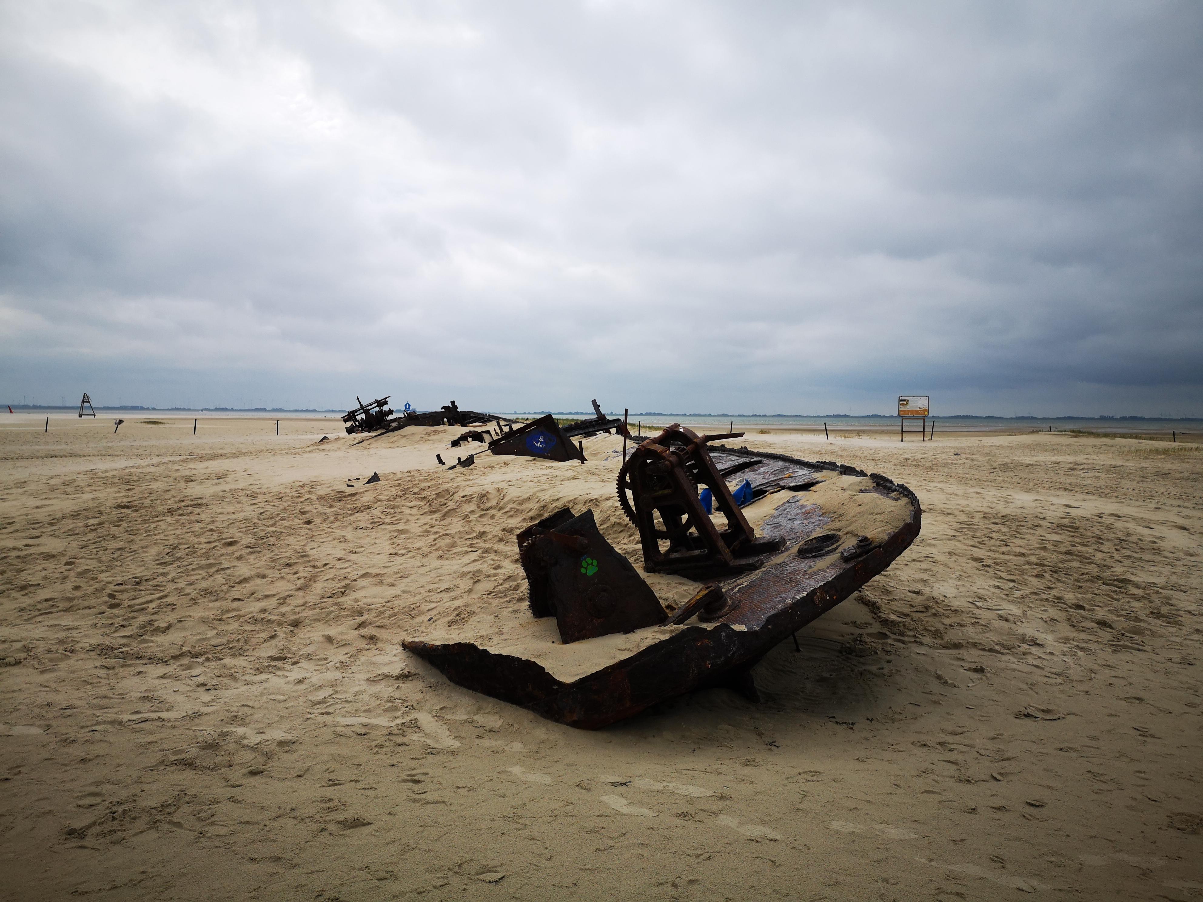 Wrack Ostende, Wrack Norderney, Schiffswrack